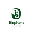 elephant sign logo design vector image vector image