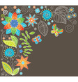 floral background with butterf vector image vector image
