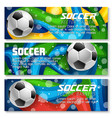 football cup soccer team background banners vector image vector image