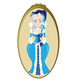 Funny Marie Antoinette vector image