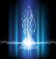geometric blazing freedom vector image vector image