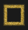 gold frame glitter texture isolated on black vector image