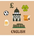 Great Britain historical and cultural icons vector image vector image