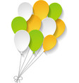 greeting card with balloons vector image