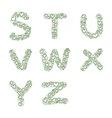 hand-drawn heart alphabet set vector image vector image