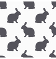 Hare silhouette seamless pattern Rabbit meat vector image