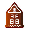 house gingerbread icon cartoon style vector image vector image