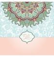 islamic vintage floral pattern template frame