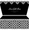 Lacy gift box vector image