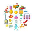 luminary icons set cartoon style vector image vector image