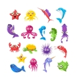 marine animals collection vector image vector image