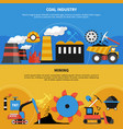 mining industry banners vector image vector image
