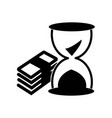 money stack and sand clock icon icon simple vector image vector image