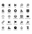pack of ui icons vector image vector image