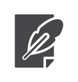 paper feather icon simple sign for web site and vector image vector image