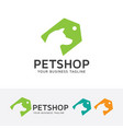 pet shop logo design vector image vector image