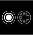 radio signal symbol connect icon set white color vector image vector image