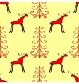 Red elk or deer in the spruce forest vector image