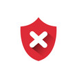 red shield icon access denied protection and vector image vector image