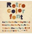 Retro color font