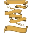 ribbon banners engravin style vector image vector image