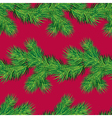 Seamless pattern with Christmas fir tree branch