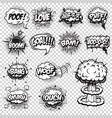 set comics speech and explosion bubbles vector image