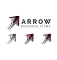 Set of arrow logo business icons vector image