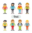 set of characters in a flat style vector image vector image
