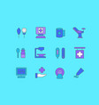 set simple line icons therapy vector image vector image