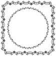set square and round decorated frame vector image vector image