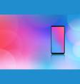 smartphone mockup realistic design concept vector image