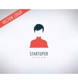 Startup business creation logo Leader Business vector image