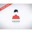 startup business creation logo leader business vector image
