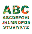 summer alphabet capital tropical letters vector image vector image