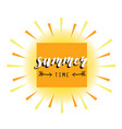 summer card abstract sun vector image vector image