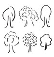 tree icon set vector image