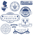 Trenton city New Jersey stamps and seals vector image vector image