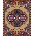 Ukrainian Oriental Floral Ornamental Carpet Design vector image
