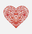 valentines day greeting card for congratulations vector image
