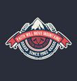 vintage camp logo layered vector image vector image