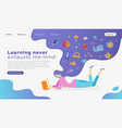 web page design templates for education learning vector image