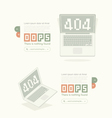Website design template element Page not found vector image vector image