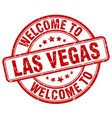 welcome to las vegas vector image vector image