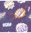 Seamless Comic Book Explosion Bombs And Blast Set vector image