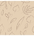 Beige and grey autumn leaves grunge seamless vector image