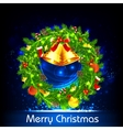 Decorated Christmas Wreath vector image