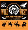 wild west native american chief head vector image
