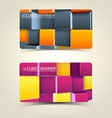 3d cubes banners vector image vector image