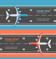 airport plane runway travel concept flyer banners vector image